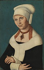 Portrait of the Duchess Barbara of Saxony, 1478-1534 (wife of George the Bearded)