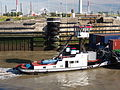 Lucia (tugboat, 1943), ENI 02322715, navigating into the Zandvlietsluis, Port of Antwerp pic4.JPG