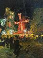 Ludwik de Laveaux - Moulin Rouge w Paryżu nocą.jpg