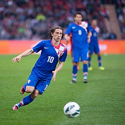 Luka Modric - Croatia vs. Portugal, 10th June 2013 (4).jpg