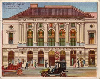 Lunt-Fontanne Theatre - Cigarette trading card showing the Globe Theatre, c. 1910s