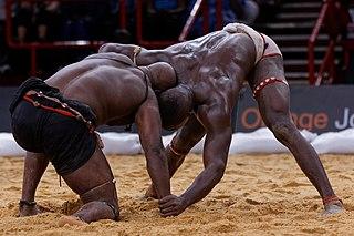 Senegalese wrestling type of folk wrestling