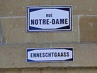 Luxembourg Rue Notre-Dame nom de rue.JPG