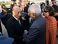 M. Hamid Ansari and Smt. Salma Ansari being received by the President of the National People's Assembly of Algeria, Mr. Mohamed Larbi Ould Khelifa, on their arrival, at Algiers Houari Boumediene Airport, in Algeria.jpg