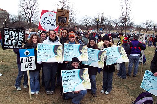 Demonstrators at the 2004 March for Life in Washington D.C.