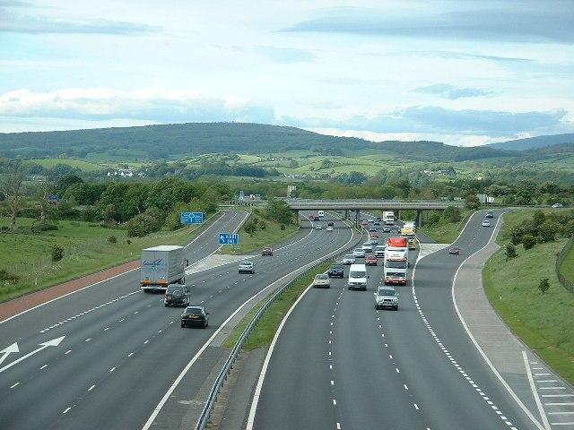 M6 motorway near Carnforth