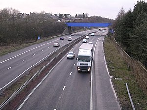 M73 motorway - The M73 just before the Gartcosh cutoff