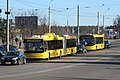 MAZ-215 and MAZ-203 buses (routes 106 and 43d) in Minsk, Belarus.jpg