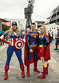 MCM London May 15 - Captain America, Superman & Supergirl (18218092956).jpg