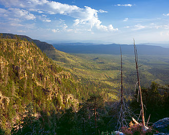 Mogollon Rim - View from Mogollon Rim near Payson, Arizona