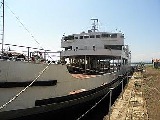 Lake Victoria ferries - MV Uhuru at Kisumu Docks.