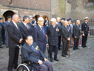 Military Order of William - Six knights of the Military William Order at the Binnenhof (The Hague, Netherlands) on 29 May 2009.