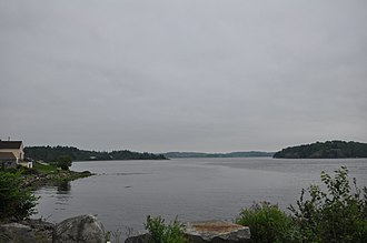National Register of Historic Places listings in Washington County, Maine - Image: Machiasport ME View To The Rim