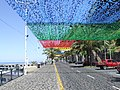Madeira - Calheta Beach Street with bunting (4732969640).jpg
