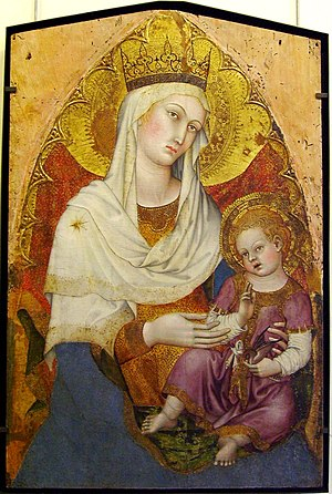 Hail Mary - Madonna and Child by Taddeo di Bartolo, 1400, an example of Marian art