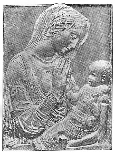 File:Madonna and Child in swaddling clothes, by Donatello Wellcome M0013508.jpg