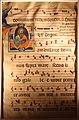 Maestro daddesco, foglio di antifonario con iniziale D e sant'andrea, 1340-48 (montepulciano, museo civico).jpg