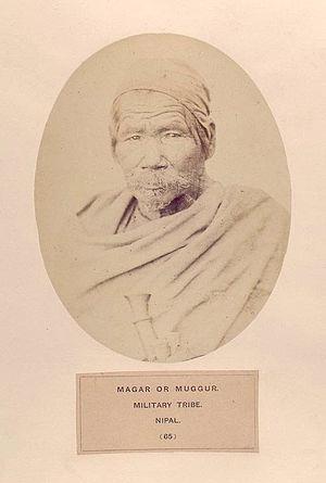 Magars - Magar man, military tribe, Nepal