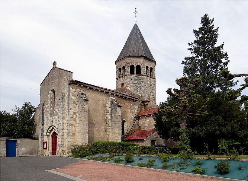 Church of Saint-Vincent-de-Paul, Magnet, Allier, France.
