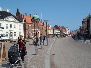 Stege, Denmark - View of Main Street in Stege