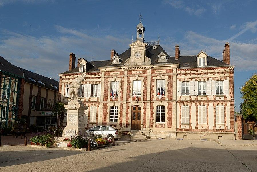 Mairie de Gasny, dans l'Eure.