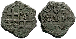 Alof de Wignacourt - 1601 Grano coin of Wignacourt