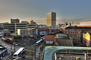 shopping centre in Manchester, England