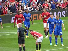 Slimani with Leicester City against Manchester United 147ff99a5