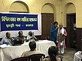 Manik Manjhi felicitating Chandra Sekhar Bhattacharjee 01.jpg