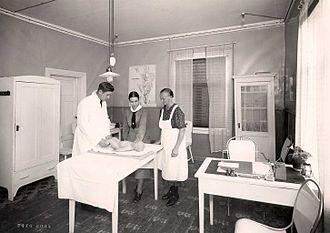 Healthcare in Finland - A child welfare clinic in 1938
