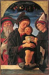 Madonna and Child with saints Jerome and Louis