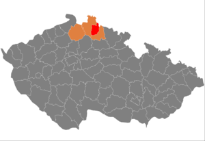District location in the لیبرتس علاقہ within the چیک جمہوریہ
