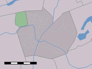 Gnephoek buurtschap in South Holland, Netherlands