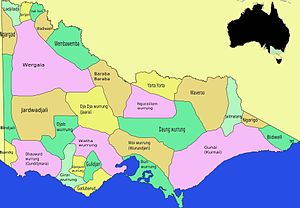 Wergaia - Image: Map Victoria Aboriginal tribes (colourmap)