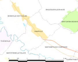 Mapa obce Canapville