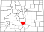 Map of Colorado highlighting Custer County.svg