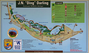 "J. N. ""Ding"" Darling National Wildlife Refuge - Map of Sanibel Island and refuge"
