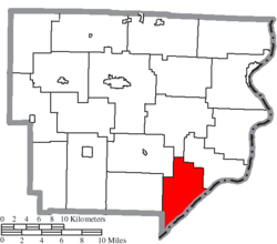 Location of Jackson Township in Monroe County
