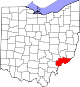 Map of Ohio highlighting Washington County.svg
