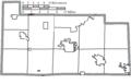 Map of Sandusky County Ohio Highlighting Elmore Village.png