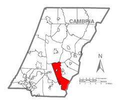 Map of Summerhill Township, Cambria County, Pennsylvania Highlighted.png