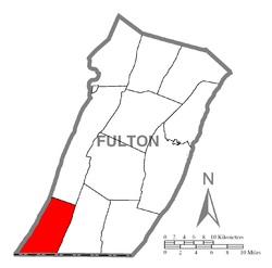Location of Union Township in Fulton County