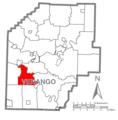 Map of Venango County Pennsylvania Highlighting Victory Township.PNG