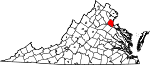State map highlighting Stafford County
