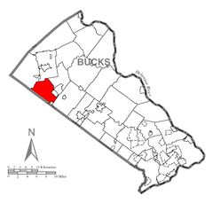 Map of West Rockhill Township, Bucks County, Pennsylvania Highlighted.png