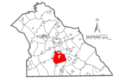 Map of York County, Pennsylvania Highlighting Springfield Township.PNG