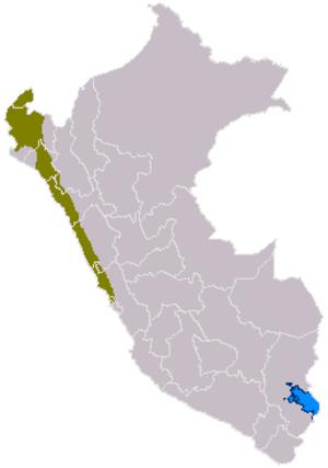 Chimor - Image: Mapa cultura chimu