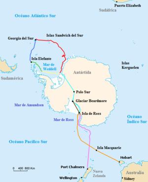 Expedici n imperial transant rtica wikipedia la for Pavimentos y suministros del sur