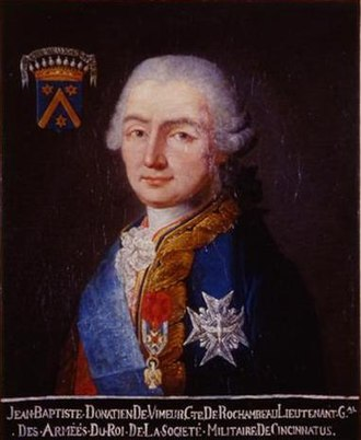 Society of the Cincinnati - Jean-Baptiste Donatien de Vimeur, comte de Rochambeau
