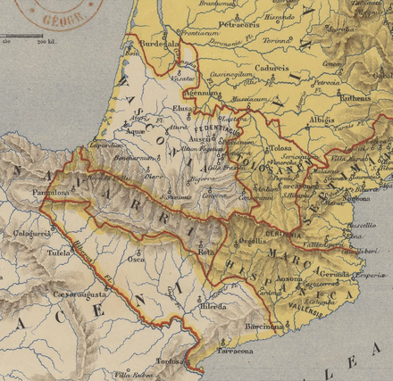The Spanish March and surrounding regions. Marca Hispanica Longnon 806.png